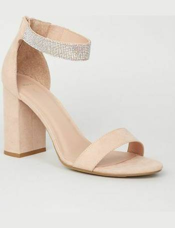 dfda7aea930 Wide Fit Nude Diamanté Ankle Strap Sandals New Look from New Look