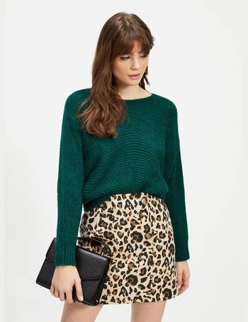 78220dac7b Womens Multi Coloured Leopard Print Jacquard Mini Skirt from Miss Selfridge
