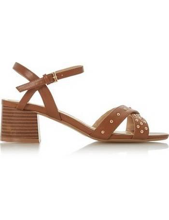 0c059d6f0 Womens Head Over Heels By Dune Brown  Julio  Mid Heel Sandals- Brown from