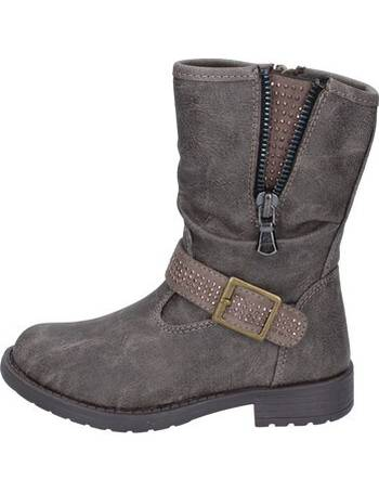MANAIRONS Boots Baby-Girls Leather Grey