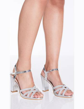 d3283ace765 Silver Shimmer Strap Heel Sandals from Quiz Clothing