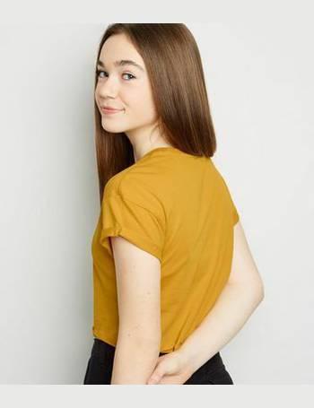 3f933b238e4c Girls Mustard Living The Dream Slogan T-Shirt New Look from New Look