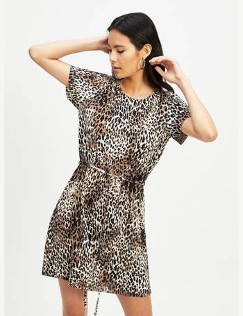 752e794869ac6 Womens Black Leopard Print Plisse T-Shirt Dress from Miss Selfridge