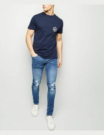 41ef8a74d0d Blue Ripped Super Skinny Stretch Jeans New Look from New Look