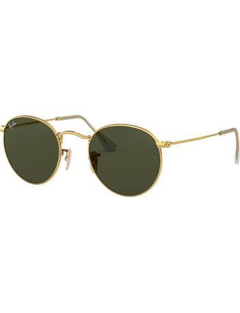 b9a2dbae2c65 Rb3447 53 Round Metal Gold Square Sunglasses from Sunglass Hut Uk