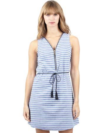 cb101ff3734 Striped Zip Front Shift Dress