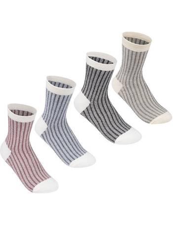 Lee Cooper 5 Pack Folded Socks Ladies Crew