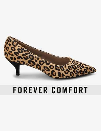 8ddafddee22 Leopard Forever Comfort Kitten Heel Court Shoes