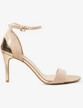 d08f2fd7e725 Womens Wide Fit Nude  Bravo  Heeled Sandals- Cream from Dorothy Perkins