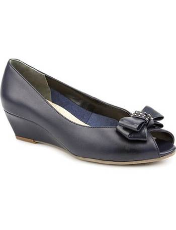 6607063aebe4 Van Dal. Leather Peep Toe Shoe With Bow Detail. from Pavers