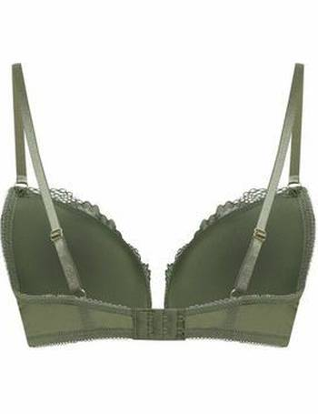 3921fed007 Khaki Satin Lace Trim Push-Up Bra New Look from New Look