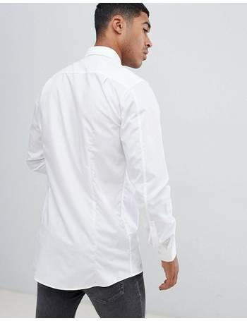 122f4714aec4 Hugo. Extra Slim Fit Poplin Shirt In White