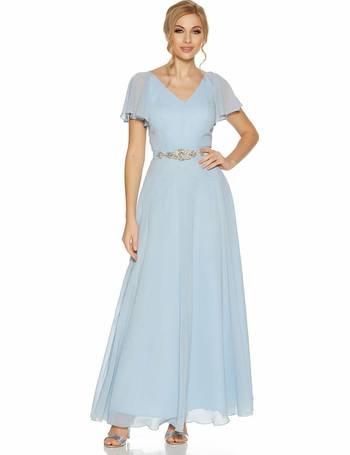 9b7517013 Pale Blue Chiffon V Neck Maxi Dress from Quiz Clothing