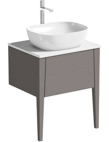 Mode Bathroom Sinks Dealdoodle, Mode Meier Grey Wall Hung Vanity Unit And Basin 600mm