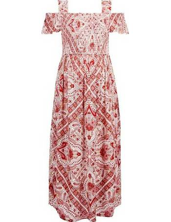 76c28552f2116 Womens Maternity Red Paisley Print Crinkle Midi Dress- Red from Dorothy  Perkins
