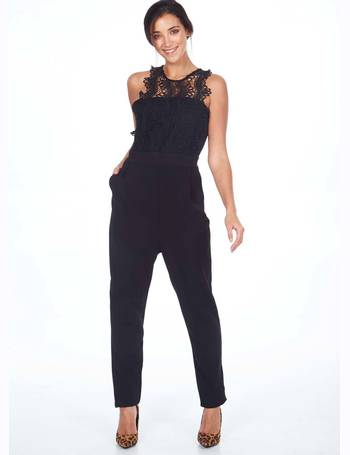 7214748e10 Blue Vanilla. MONICA - Crochet Lace Black Jumpsuit. from Blue Vanilla.  £32.00. BEATHA - D Ring Wrap ...