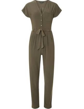 4b78ea6d422 Womens Khaki V-Neck Jumpsuit- Khaki from Dorothy Perkins