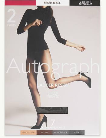 Marks /& Spencer Luxury Back Seam Tights AUTOGRAPH BLACK SMALL