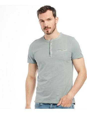 99ad6629 Ted Baker. Mens Arrden Laundered Henley Short Sleeve T-Shirt Green