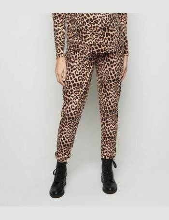 2e2a871cceef Maternity Brown Leopard Print Soft Touch Pyjama Trousers New Look from New  Look
