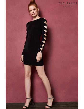 c137cbac275556 Ted Baker. Black SEMANJ Print Bodycon Dress. from Next. £179.00. JAYNEY  Knitted Sleeve Detail Bodycon Dress from Next