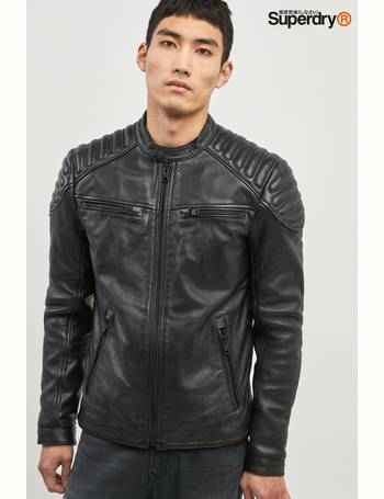 limited price official site sells Shop Men's Superdry Leather Jackets up to 50% Off | DealDoodle