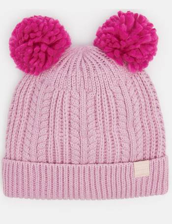 958a505b96a DUSK PINK Ailsa Double pom Hat from Joules