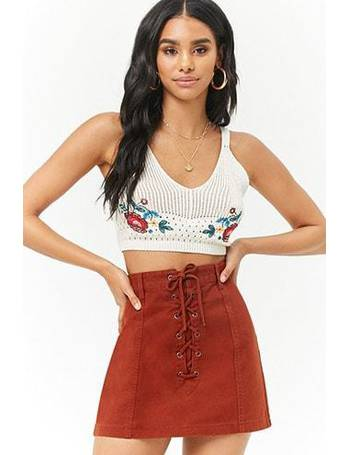 3326c3c58c Shop Women's Forever 21 Lace Skirts up to 80% Off | DealDoodle