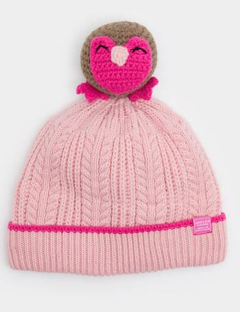 1a87ae174c2 Rose Pink Petapat Character Pom Pom Hat from Joules