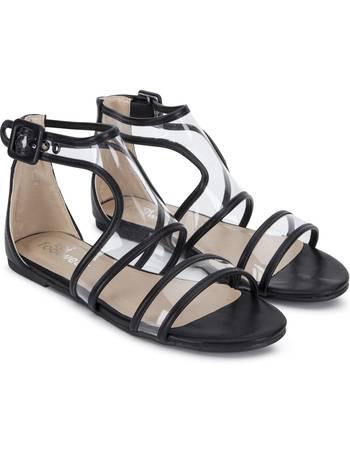 280908d4f0d Perspex Strap Flat Black Sandals from KOI Footwear