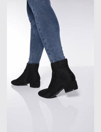 2d99c016dbaa Wide Fit Block Heel Ankle Boots from Quiz Clothing