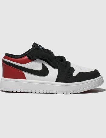 1dd068bf5c White & Red Jordan 1 Low Trainers Junior from Schuh