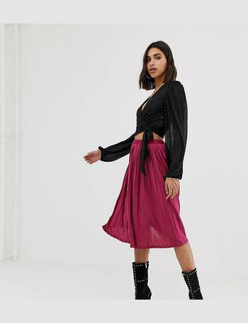 b16c6d56a Missguided. exclusive pleated midi skirt in raspberry. from ASOS