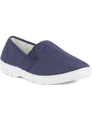 6600cfef3752 Hobos. Mens Twin Gusset Canvas Shoe ...