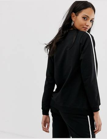 c173f7335b1171 ASOS DESIGN Maternity tracksuit cute sweat / basic jogger with tie with  contrast binding from ASOS