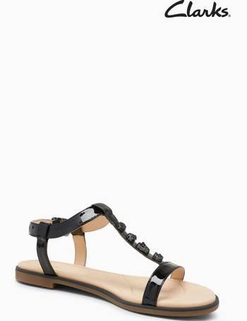 db87c458e6e Clarks. Black Bay Blossom Embellished T-Bar Sandal