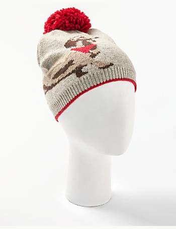 Sausage Dog Print String Pom Beanie Hat from John Lewis 9f87ef309