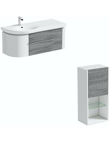 Mode Grey Vanity Units Dealdoodle, Mode Burton White Wall Hung Vanity Unit And Basin 600mm