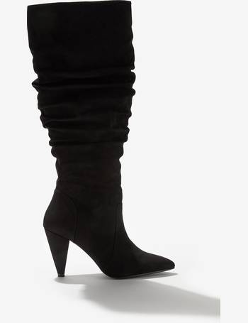 5f6fef52d48 Womens Black Ossie Over The Knee Boots