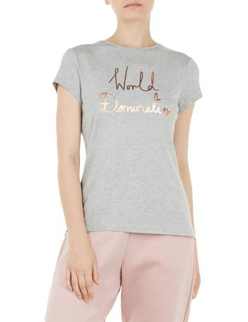 d66d30a94dcdec Ted Baker. Janetia World Domination Fitted T-Shirt