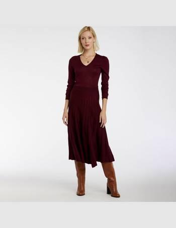 Castaluna Womens Fine Gauge Crew Neck Jumper//Sweater With Jacquard Motif