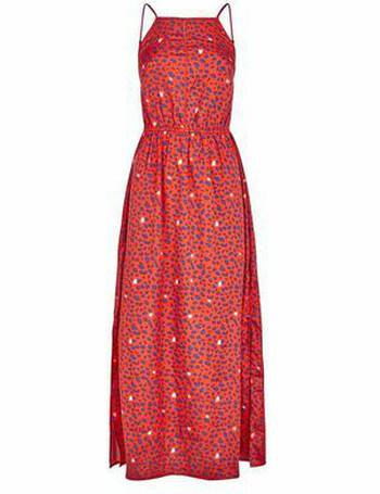 4302f98eaf32 Red Leopard Print Crochet Front Maxi Dress New Look from New Look