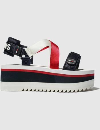 615b33efec Shop Tommy Hilfiger Women's Flatform Sandals up to 30% Off | DealDoodle