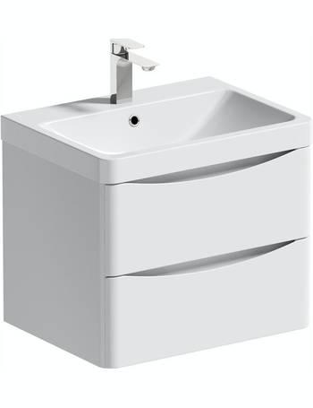 Mode Vanity Units Dealdoodle, Mode Meier Grey Wall Hung Vanity Unit And Basin 600mm