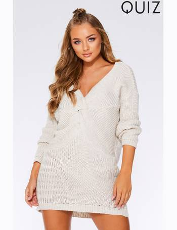 590fa53caa18 Knitted Knot Front Long Sleeve Jumper Dress from Next