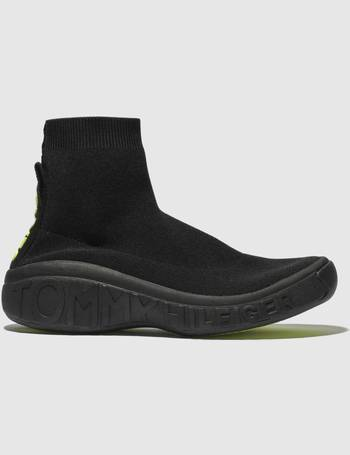 74663605e587bc Tommy Hilfiger. Black Tj Knit Sock Sneaker Trainers. from Schuh. £83.99  £105.00. Womens High Cleated ...