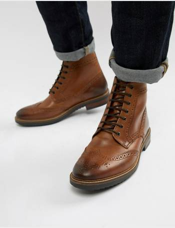 e54c6565dfb Hopkins brogue boots in tan leather
