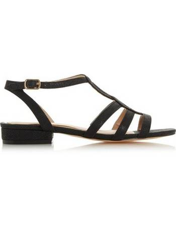 0902f4bed8d6 Womens Head Over Heels By Dune Black  Juney  Ladies Flat Sandals- Black from