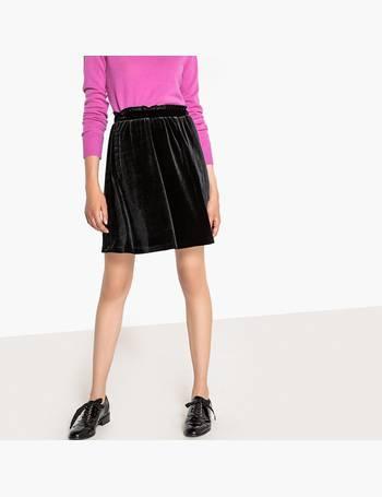 421a8225d90 Short Velvet Skirt