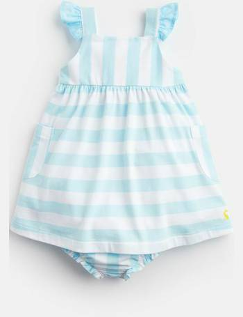507febc13ee3 Aqua White Stripe Penny Jersey Dress And Knickers Set from Joules